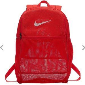 LIKE NEW Nike Red Mesh Brasilia Backpack 🎒